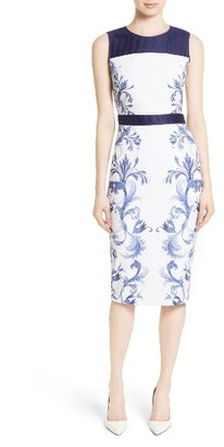 Women's Ted Baker London Ritah Colorblock Midi Sheath Dress $315 thestylecure.com