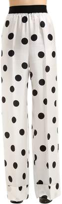 Maison Margiela Polka Dot Silk Twill Pants