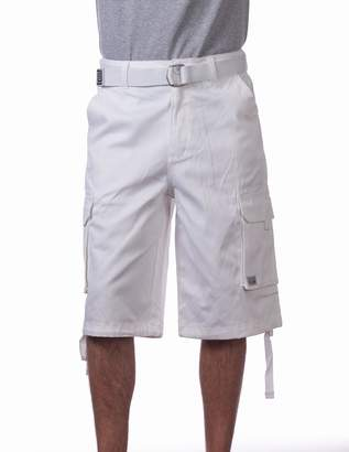 314d0a31a2 Pro Club Men's Cotton Twill Cargo Shorts With Belt,