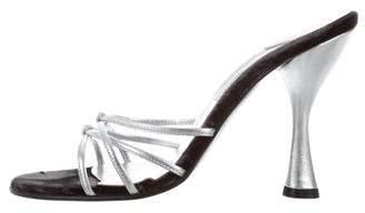 Dolce & Gabbana Metallic Slide Sandals