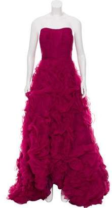 Jovani Strapless Ruffle-Accented Gown