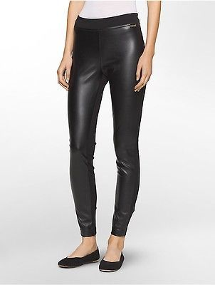 Calvin Klein Calvin Klein Womens Faux Leather Compression Leggings