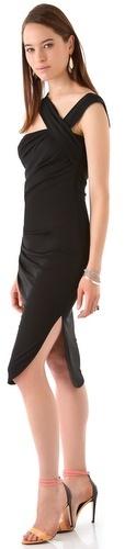 Halston heritage Asymmetrical Midi Dress