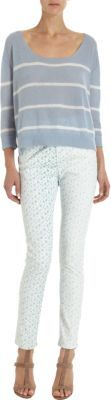 Band Of Outsiders High-Waisted Floral Print Skinny Jeans