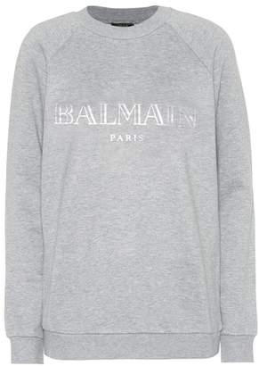 Balmain Exclusive to Mytheresa – Printed cotton sweatshirt
