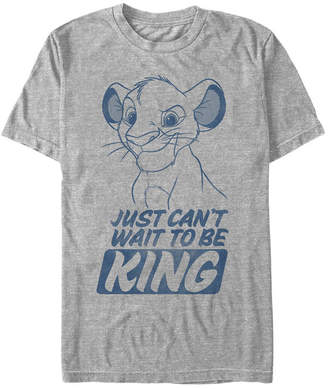 Simba Disney Men The Lion King Young Can't Wait To Be King Short Sleeve T-Shirt