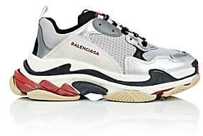 Balenciaga Men's Triple S Sneakers-Silver