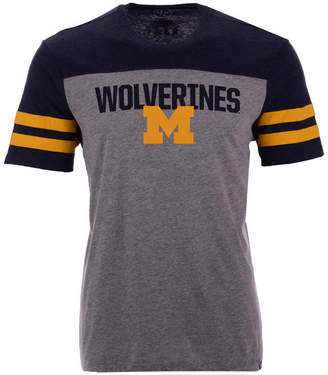 '47 Men's Michigan Wolverines Tri-Colored T-Shirt
