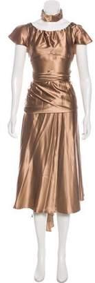 Michael Kors Ruched Evening Dress