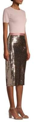 Sachin + Babi Rori Knit Sequin-Skirt Dress