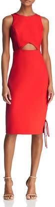 BCBGMAXAZRIA Cutout Crepe Dress