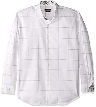Bugatchi Men's Long Sleeve Shaped Woven Shirt