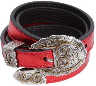 Kate Cate 15mm Thin Kim Metallic Leather Belt