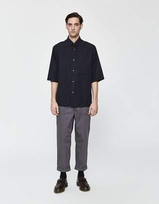 Jil Sander Silence FF Button Up Shirt in Dark Blue