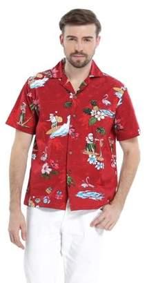 Hawaii Hangover Men's Hawaiian Shirt Aloha Shirt Christmas Shirt Santa Turquoise