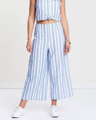 MinkPink Frou Textured Stripe Culottes