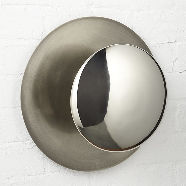 CB2 Silver Disc Wall Sconce