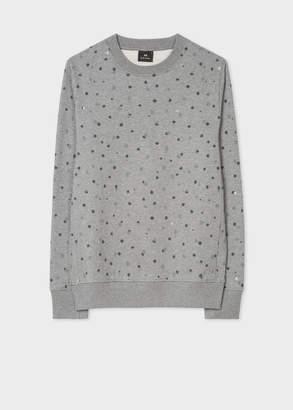 Paul Smith Men's Grey 'Ink Spot' Print Organic-Cotton Sweatshirt