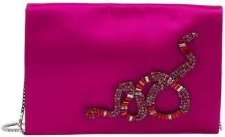 Roberto Cavalli Pink Cloth Clutch Bag