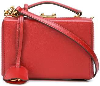 Mark Cross boxy snap top satchel