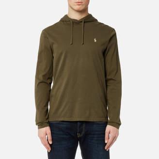 Men's Hooded Long Sleeve TShirt - Defender Green