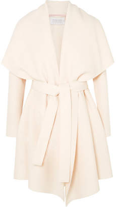 Harris Wharf London Belted Wool-felt Coat - Cream