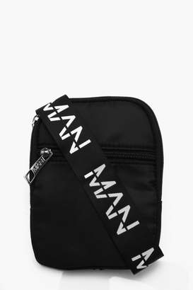 boohoo Nylon MAN Strap Cross Body Bag