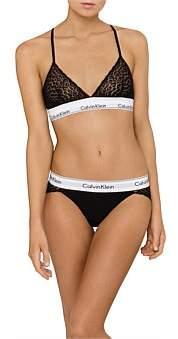Calvin Klein Modern Cotton Lace Unlined Triangle Bra