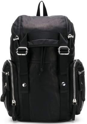 Diesel Black Gold buckled backpack