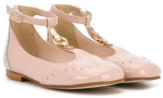 Chloé Kids T-bar ballerina shoes