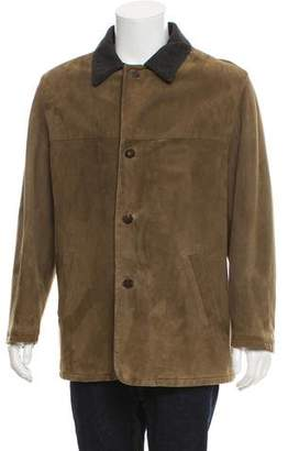 Salvatore Ferragamo Suede Button-Up Jacket