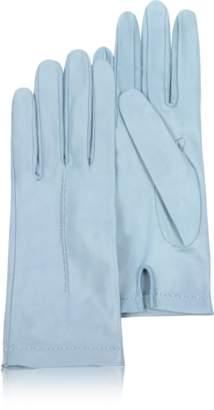 Forzieri Women's Sky Blue Unlined Italian Leather Gloves