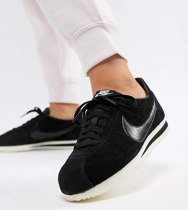 nike classico cortez scarpe in velluto nero shopstyle formatori