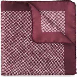Whistles Cross Hatch Silk Pocket Square