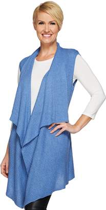 Halston H By H by Waffle Stitch Cascade Collar Sweater Vest