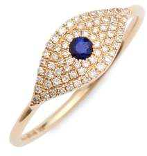 Ef Collection Jumbo Evil Eye Stack Diamond & Sapphire Stack Ring