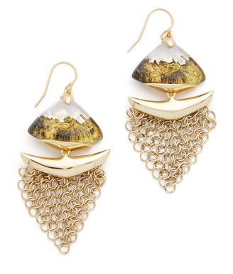 Alexis Bittar Dangling Mesh Wire Earrings $275 thestylecure.com