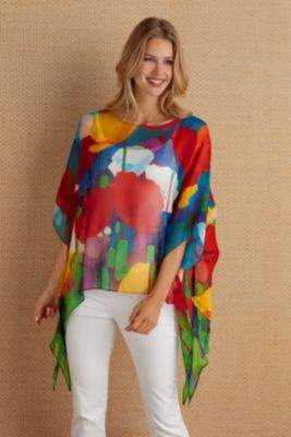 Soft Surroundings Silk Colours Tunic