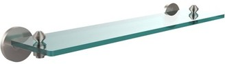 "South Beach Allied Brass Collection 22"" Glass Vanity Shelf with Beveled Edges"