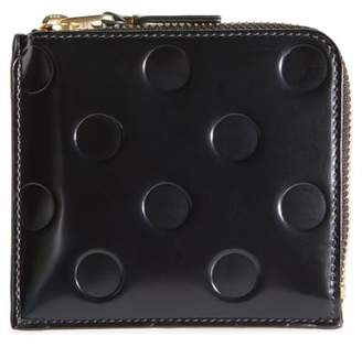Comme des Garcons Dots Embossed Leather Line Wallet