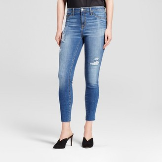 Mossimo Women's Jeans High Rise Raw Hem Jeggings - Mossimo Medium Wash $29.99 thestylecure.com