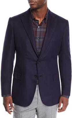 Brioni Men's Silk-Cashmere Two-Button Jacket