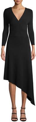A.L.C. Morrow V-Neck Long-Sleeve Asymmetrical Dress