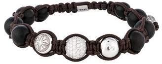 Shamballa 18K Diamond & Ebony Wood Bead Bracelet