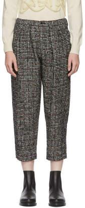 Comme des Garcons Black Fancy Tweed Trousers