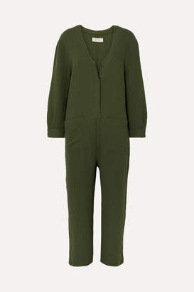 The Great The Union Cotton-gauze Jumpsuit - Green