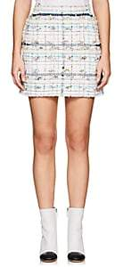 Thom Browne Women's Cotton-Blend Tweed Miniskirt - White