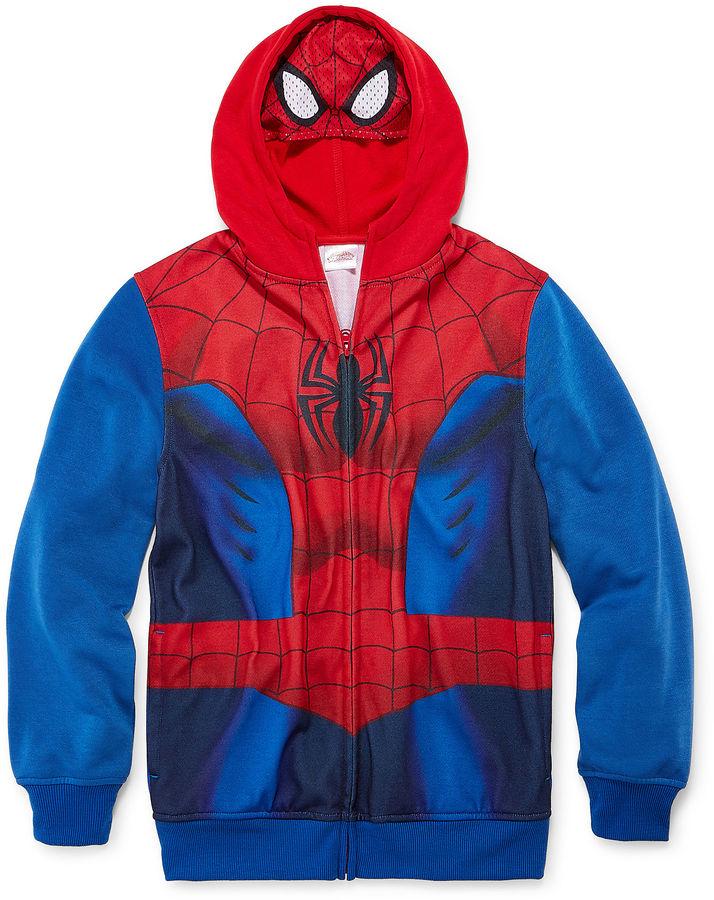 Novelty T-Shirts Spider-Man Fleece Hoodie - Boys 8-20