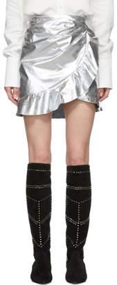 Isabel Marant Silver Talouma Miniskirt