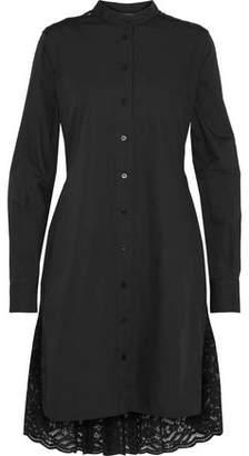 Diane von Furstenberg Cotton-Poplin And Lace Shirt Dress